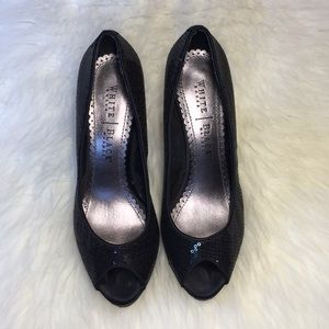 White House Black Market Sequin Heels